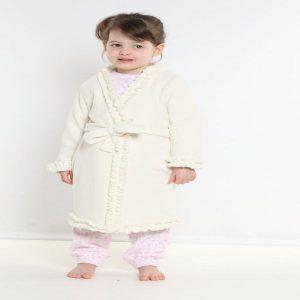 Vestaglia bambina bianca pile TG.6 ANNI-0