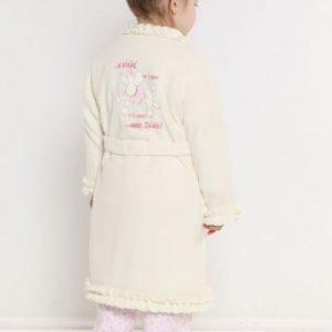 Vestaglia bambina bianca pile TG.6 ANNI-14238