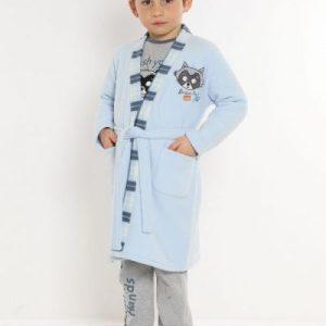 Vestaglia bambino azzurro TG. 6 ANNI-0