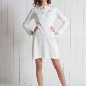 Camicia notte donna panna 6M91581 taglia xs- s-0