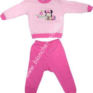 Pigiama bimbo invernale Minnie Baby rosa-0