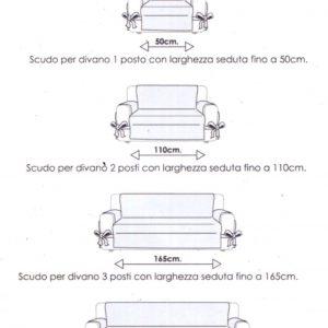 Dimensioni Divano 3 Posti.Copridivano Scudo Velvet Quattro Stagioni Viaroma60