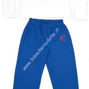pigiama DONNA PRIMAVERILE Sweet Years bianco/blu TAGLIA S-0
