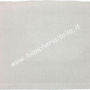 Coperta tricot bianco carrozzina 66x86 6M65788-0