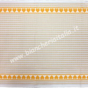 Burazzo cotone CUORE GIALLO cm.65X50 MEYER MATYOR-0