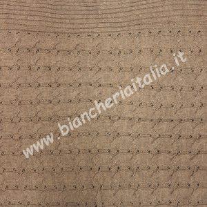 Plaid coperta divano 130x160 TRICOT cammello 6M62309 P639 maryplaid-0
