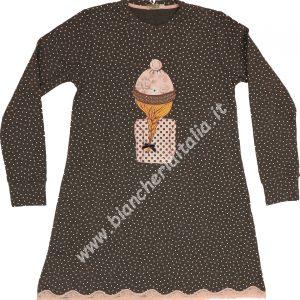 Camicia notte invernale 6M92449 manica lunga bambina-0