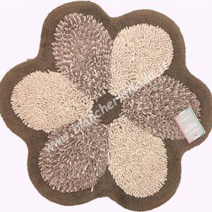 Tappeto bagno FLOWER TORTORA diametro cm.75