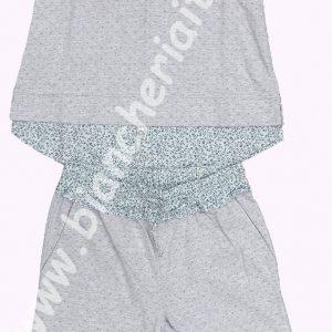 Pigiama donna leggero 6M96574 manica corta pantaloni sotto ginocchio cotone-0