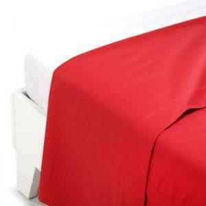 Lenzuolo superiore caleffi color rosso