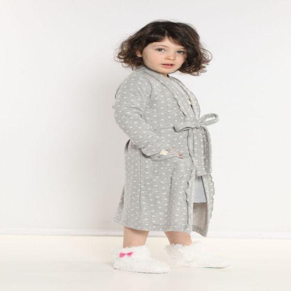 Vestaglia bambina grigia leggermente felpata 6M90963 maryplayd taglia 4 anni-0