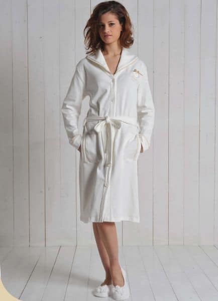 Vestaglia donna panna cotone 6M91578 A143 MARYPLAYD TAGLIA S- L -XL-0