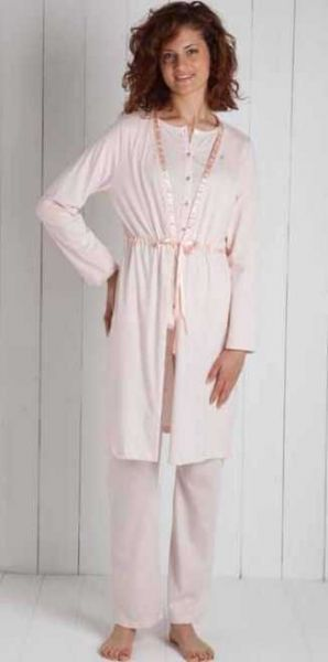 Vestaglia donna 6M96131 B307 leggera maryplayd rosa taglia L -XL-0