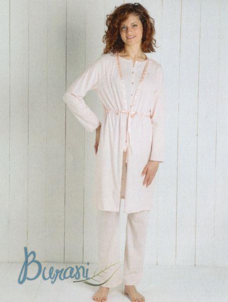 Vestaglia donna 6M96131 B307 leggera maryplayd rosa taglia L -XL-30225