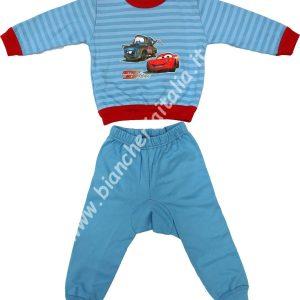 Pigiama bimbo invernale Baby Speed cars azzurro-0