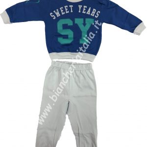Pigiama bambinO Sweet Years MOD 62 BLU peso invernale-0