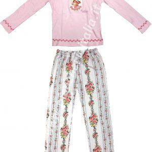 Pigiama bambina Valerie VAR.731 rosa invernale TAGLIA 4 - 8 ANNI-0