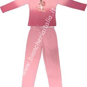 Pigiama bambina Valerie VAR.1415 rosa invernale TAGLIA 4 - 8 -10 -12 ANNI-0