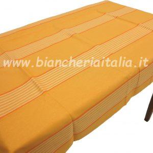 Tovaglia RANDI giallo tinto in filo 12 POSTI rettangolare CM.180X240 SENZA TOVAGLIOLI-0