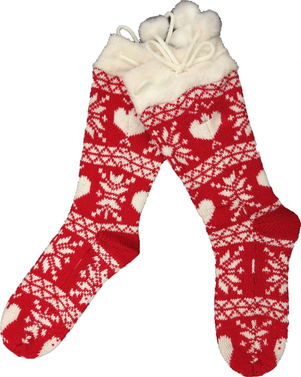 Calza tricot taglia L/XL donna con antiscivolo-0