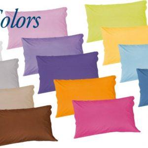 Federa coppia tinta unita Caleffi Colors (misura utile guanciale cm.50*80+ 2 volant laterali cm.7 larghezza totale cm.94)-0
