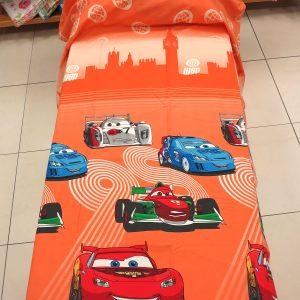 Copriletto estiva leggera CARS TEAM 95 ARANCIO