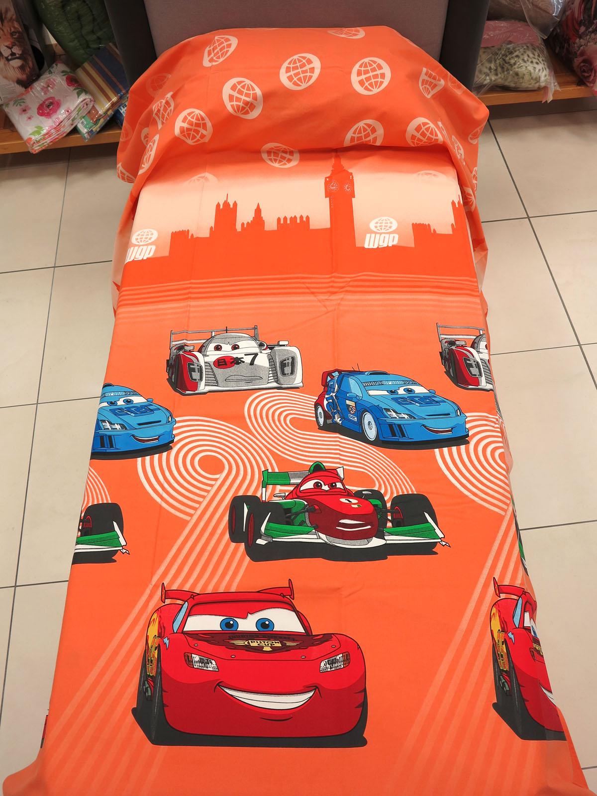 Copripiumino Cars 1 Piazza E Mezzo.Copriletto Estiva Leggera Cars Team 95 Arancio Piazza Mezzo Arancio Caleffi Cm 220x270 Panama Di Cotone