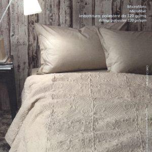 Copriletto butis DELUXE beige Zucchi matrimoniale CM.260X260