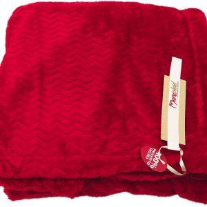 Panno matrimoniale cm.250x210 pelliccetta 6M63373 c936 rosso