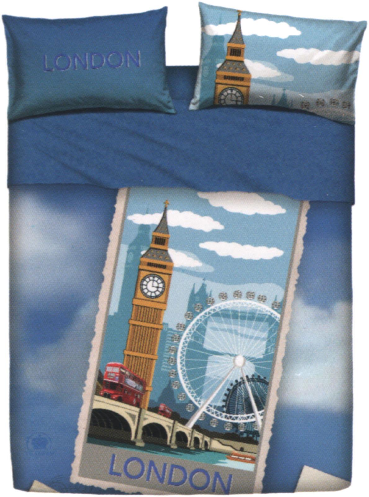Copripiumino Londra Singolo.Copripiumino Singolo Bassetti London Collezione Le Cartoline