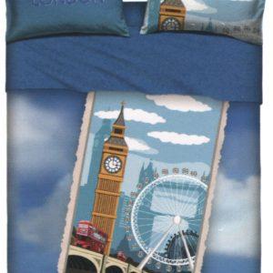 Copripiumino LONDON piazza mezzo bassetti (sacco 200x200 +pattella rimbocco cm.45= 245 + 1 sotto lenzuolo 125x200 + 1 federa 50x80)