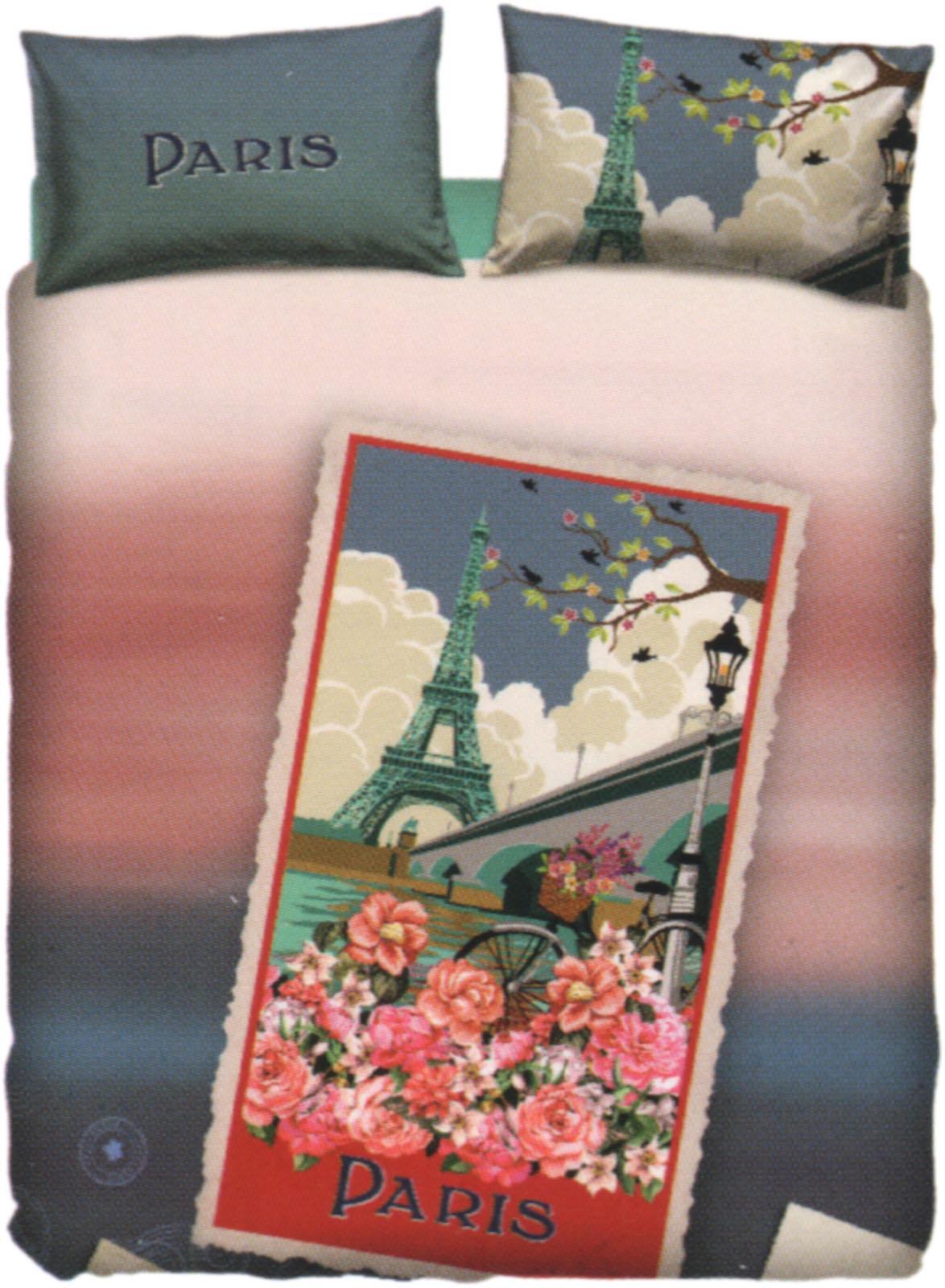 Sacco Copripiumino Bassetti.Copripiumino Bassetti Paris Collezione Le Cartoline