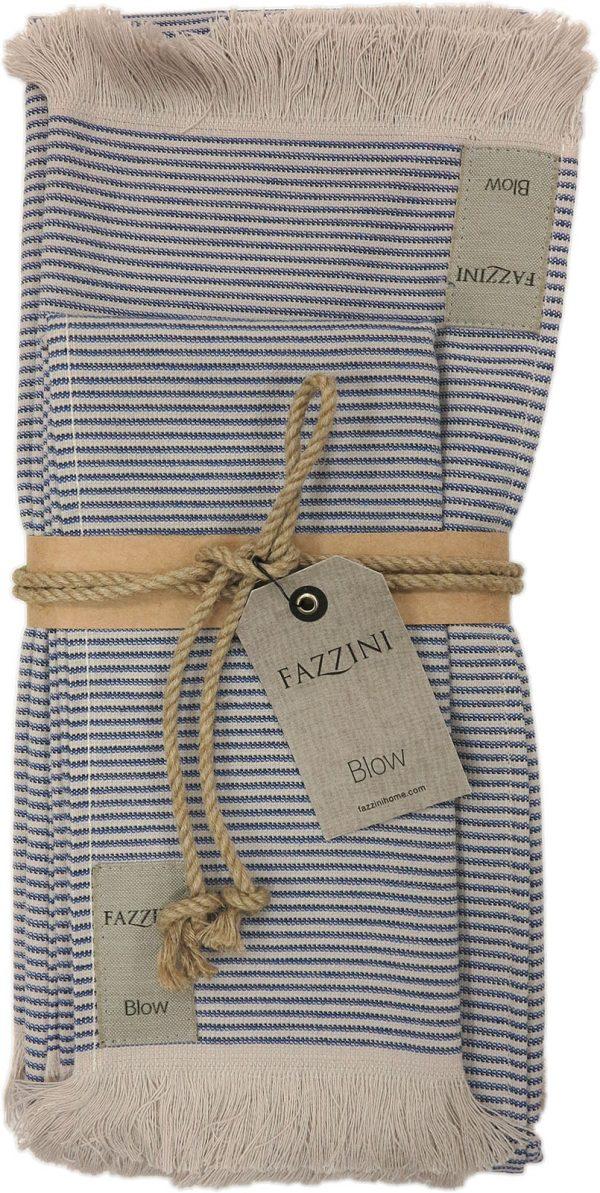 Set asciugamano strips blu