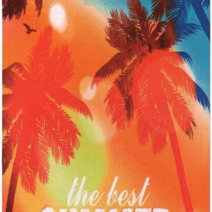 "Telo mare bassetti MICROFIBRA ""THE BEST SUMMER"" cm.90X170"