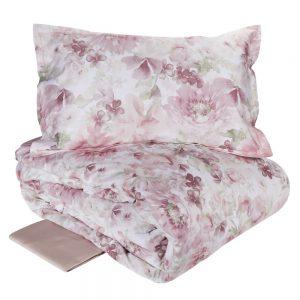 Copripiumino LA pergola var.1 rosa matrimoniale Fazzini - Tessuto raso Satin