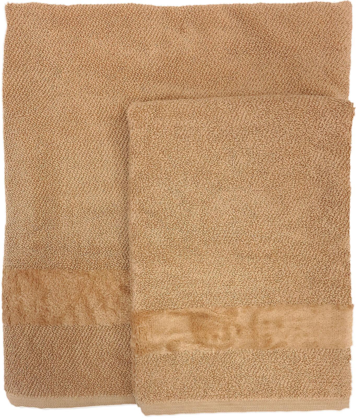 Carrara Asciugamano Ospite cm 40x55 in 100/% Spugna di Cotone Naturale FYBER col PZ 1 cm 40x55 012 Bianco