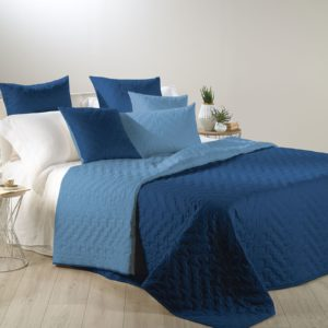 copriletto trapuntato primaverile caleffi Mix blu