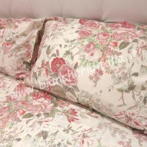 Copripiumino matrimoniale Fazzini flowers rosa