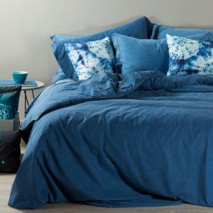 copripiumino caleffi jeans blu